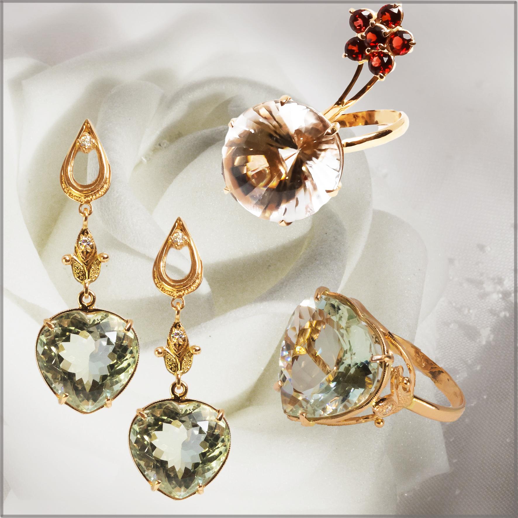 Коллекция с натуральными камнями